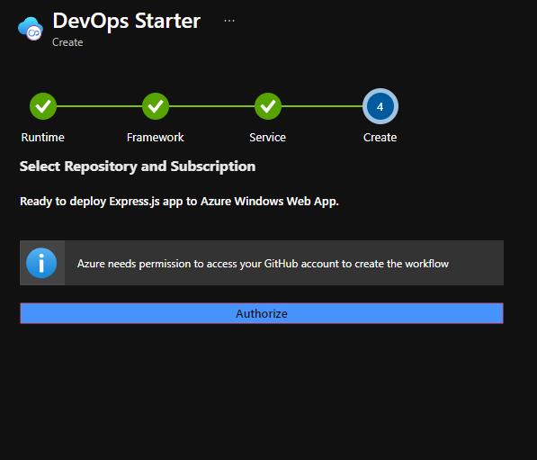 DevOps starter step 4